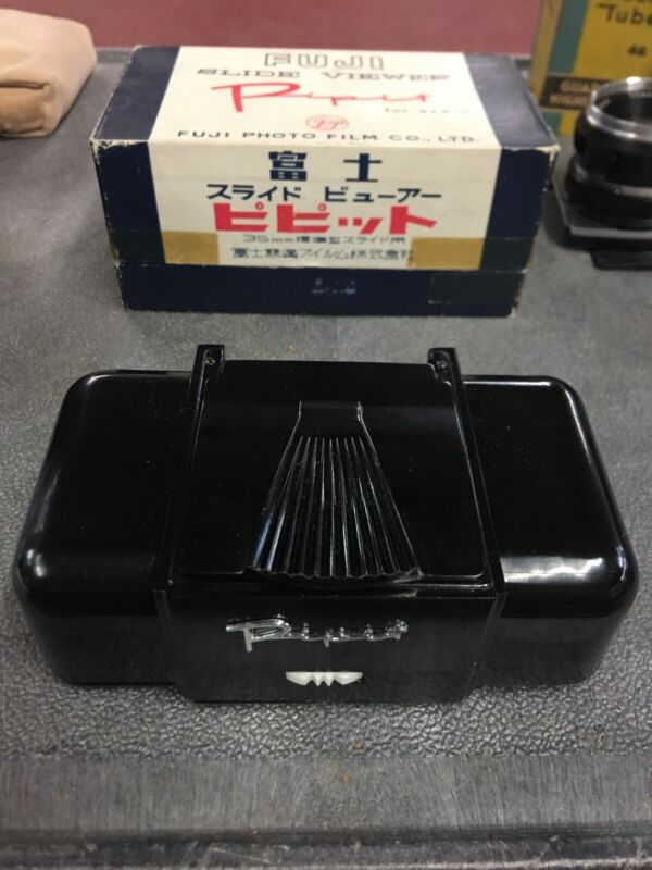 Vintage Fuji Pipit Bakelite Slide Viewer With Original Box