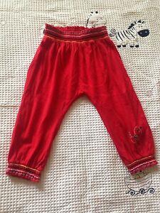 Size 1 pants red with little bird detail AS NEW pumpkin patch Carlton Kogarah Area Preview