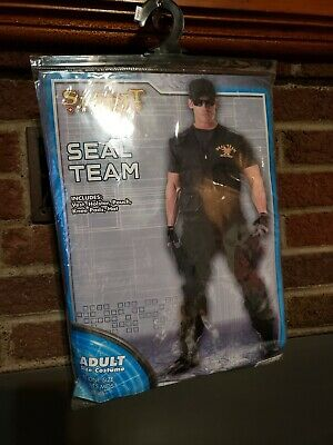 SPIRIT HALLOWEEN SEAL TEAM  Costume  Set Adult /One Sz Fits Most /NEW  (Seal Costume Adults)