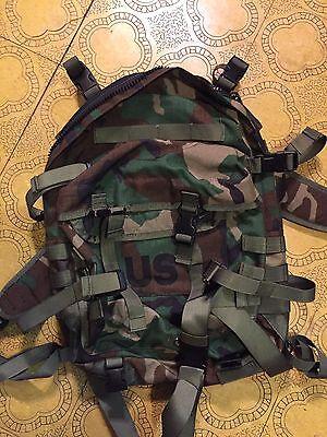 RARE! New USGI Woodland 3-Day Assault Pack