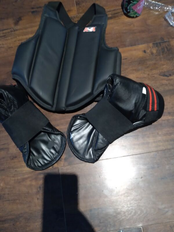 ATA Martial Arts Karate Taekwondo Sparring Vest Chest Protector Size Child Large
