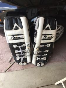 Goalie pads   35 inches/ 89 cm  and 30 inches
