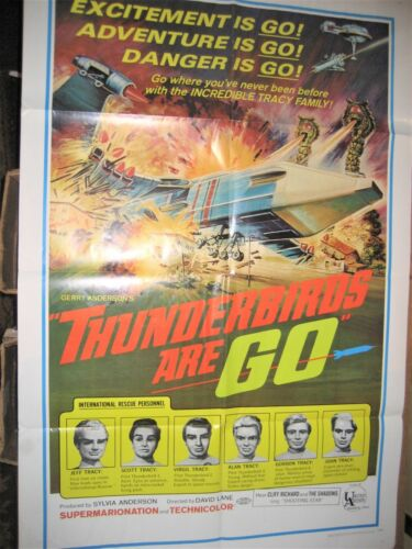 THUNDERBIRDS ARE GO! ORIGINAL U.S. 1-SHEET MOVIE POSTER ( GERRY ANDERSON )