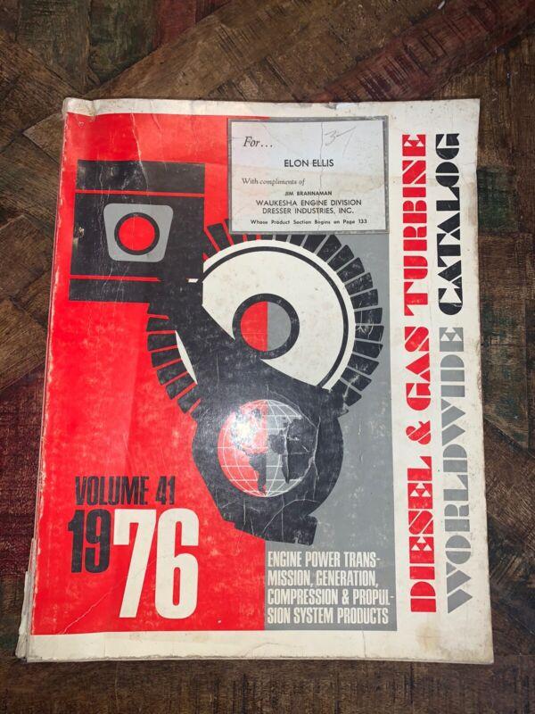 Vintage 1976 Diesel And Gas Turbine Engine Catalog Book Vol 41 Advertising Auto