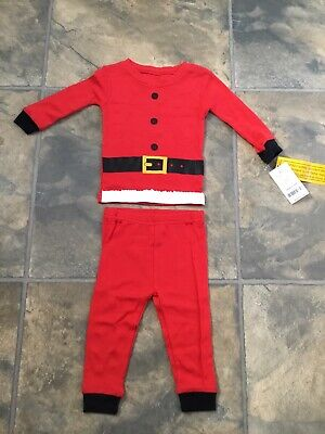 Father Christmas Outfit Baby Set Red 6 Months