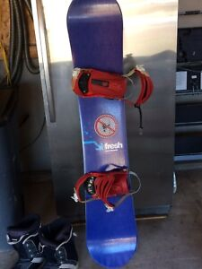 Snowboard/shoes perfect condition, barely used