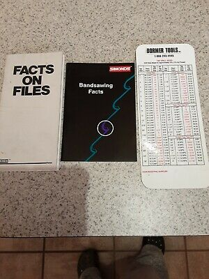 Simonds Band Saw Blade Facts Booklet Simonds Facts On Files Booklet And Pocket