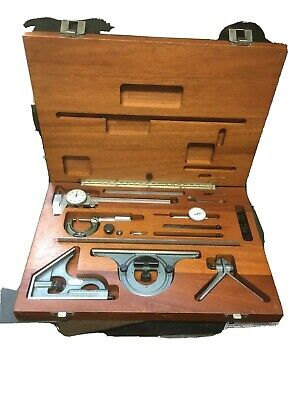 Mitutoyo 950-908 Machinist Tool Kit 5 Set Indicator Caliper Square Rule Etc