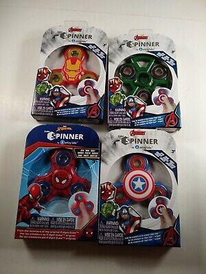Marvel Avengers Fidget Spinners Captain America Hulk Iron Man Spiderman 4 Pack
