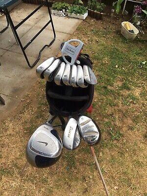 Set Of Nike Golf  Clubs  Ignite Irons Nike Driver Rescue Clubs Nike Bag