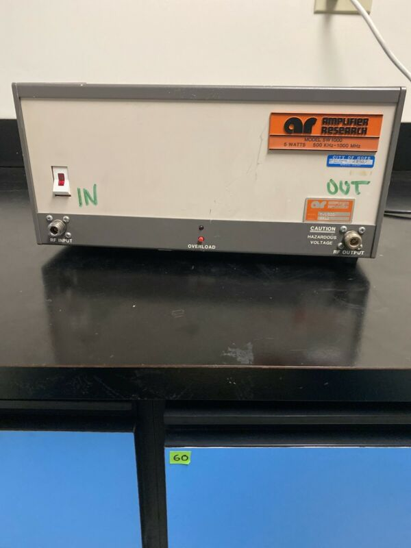 Amplifier Research 5W1000 500k-1GHz 5 Watt RF Amplifier Type N In/Out