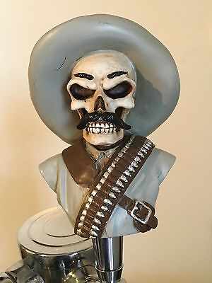 Skull Bandito Zapata figural beer tap handle for kegerators! Brand New! Skeleton