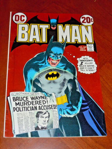 BATMAN #245 (1972) FINE+ (6.5) cond  NEAL ADAMS cover and story HIGHER GRADE