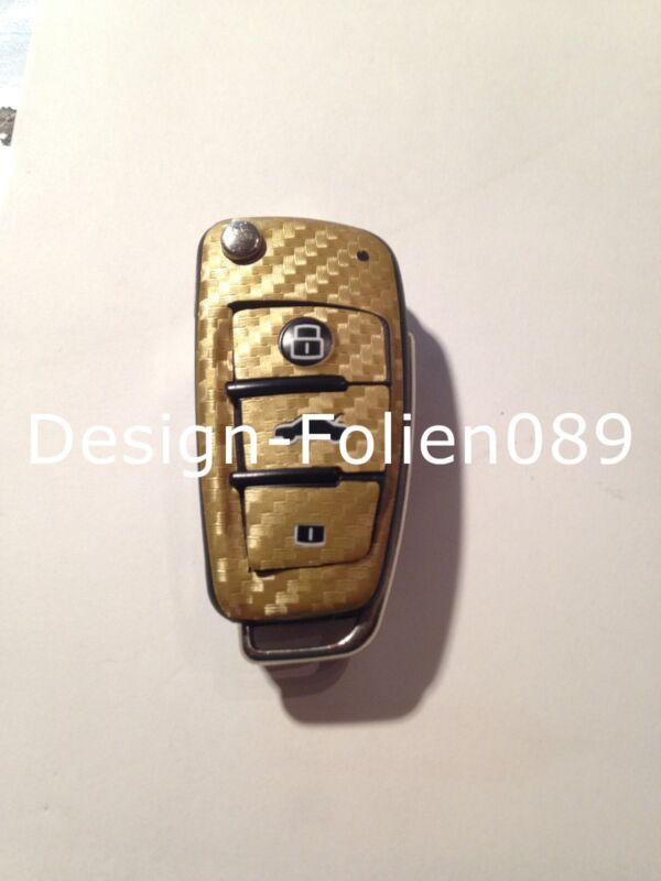 Carbon Grün Folie Dekor Schlüssel Audi TT A1 8J A6 A3 8p A4 4F S3 S4 B7 Q7 RS
