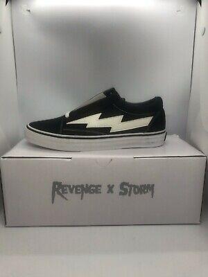 Revenge x Storm Black 100% Authentic Vans SIZE 11 Damaged Box FREE SHIP