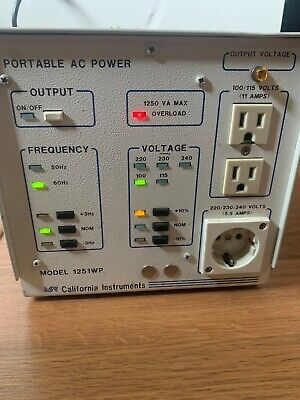 Used California Instruments 1251wp Universal Ac Power Source - As Is - For Parts