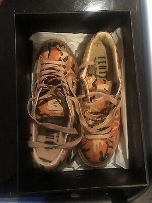 Puma X Rihanna Fenty Leather Creeper Orange Tan Black CAMO Shoes Sneakers Sz 9