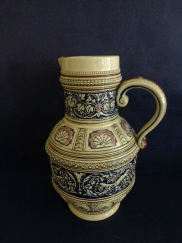 VERY NICE VINTAGE GERMAN  STONEWARE CERAMIC WATER PITCHER