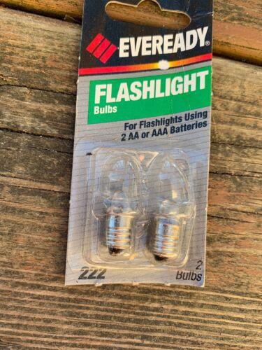 Vtg  Deadstock Eveready 222  Flashlight Bulbs 90's
