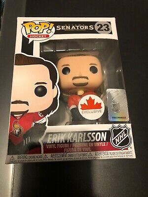Funko Pop! Erik Karlsson #23 Canada Exclusive Brand New Vinyl Toy Figure