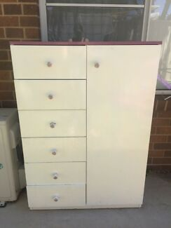 Tall set of draws with hanging space