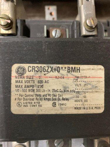 GE Motor Starter CR306ZX#0**BMH  Nema Size 5