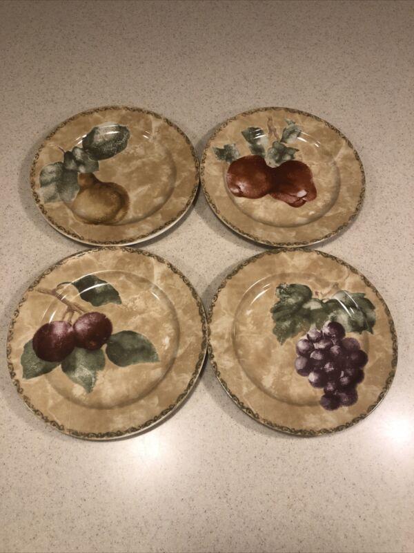 "(4) 222 Fifth Cheri Blum CORTLAND 8 1/4"" Salad Plates"