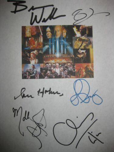 The Fifth Element Signed Script X6 Bruce Willis Gary Oldman Ian Holm Tucker RPNT