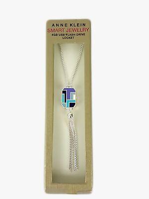 Anne Klein 4 GB USB Flash Drive Locket Necklace - Cheap Locket Necklace