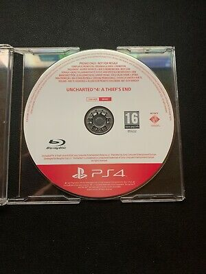 Uncharted 4 A Thiefs End ORIGINAL* Rare PROMO 1 out of 500 made- PS4 CUSA 04529 for sale  Shipping to Nigeria
