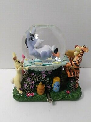 """Disney Musical Eeyore and Winnie the Pooh Snow Globe, """"Rumbly In My Tumbly,"""""""