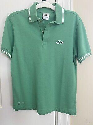 Lacoste Boys Striped Cotton Petit Piqué Alligator Polo Shirt size 14 NWOT $55