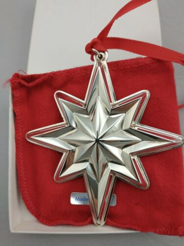 1994 Lunt Star Sterling Silver Christmas Ornament New, Unused, w/Box and Bag