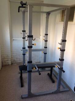 Squat cage rack dip / chin bars weightlifting bench Coogee Eastern Suburbs Preview