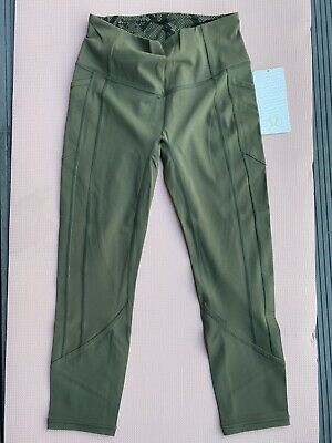 BNWT Lululemon All the Right Places Crop uK12/US8 Fatigue Green Full On Luxtreme