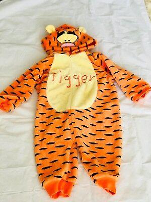Disney Winnie The Pooh Tigger Halloween Baby Costume Sz 12 months One Piece