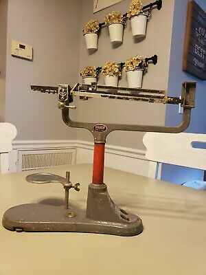 Vintage Ohaus 311 Cent-o-gram Triple Beam Balance Scale Red
