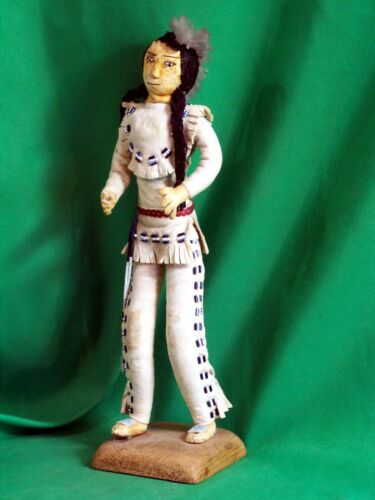 Plains Indian Beaded Leather Doll - Vintage & Beautiful!