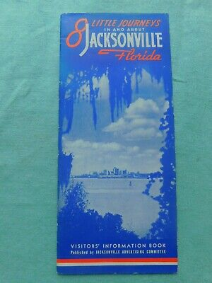 LOT OF 2 VINTAGE ADVERTISING BOOKLETS & MAPS OF & ABOUT JACKSONVILLE FLORIDA