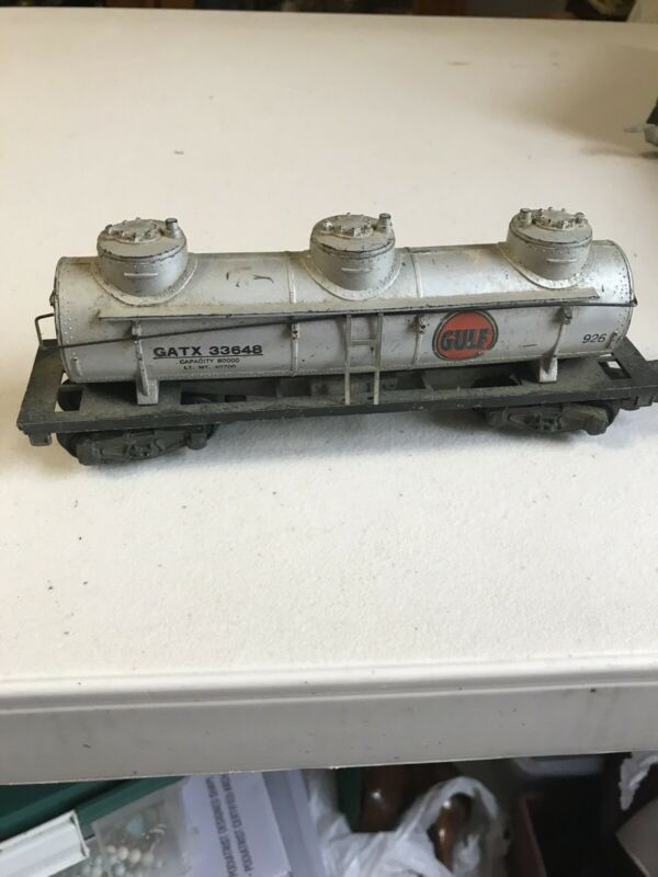 American Flyer #926 Gulf 3 Dome Tank Car. Excellent