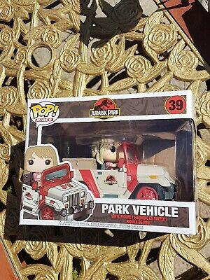 Funko Jurassic Park POP! Rides Park Vehicle & Dr Ellie Sattler Figure Free P&P