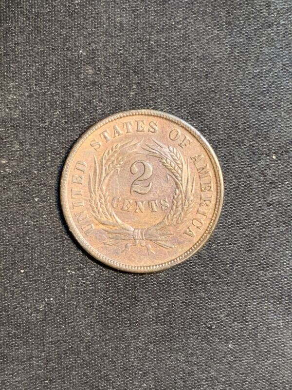 1864 2C Two Cent Piece