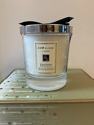 NEW Jo Malone London Scented Candle Dark Amber & Ginger Lily Fragrance Jar