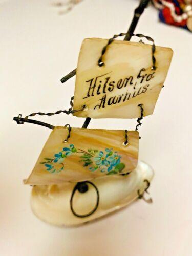 Souvenir Antique Shell Figural Sewing Thimble Holder