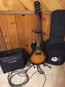 Epiphone LP Special ll, Line 6 Spider IV 15w, cord, strap, bag