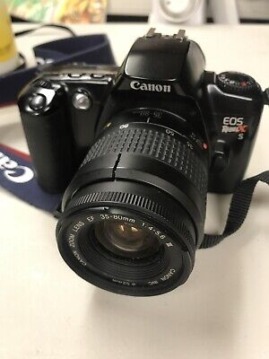 Canon Rebel XS EOS with zoom lens EF 35-80mm 1:4-5.6