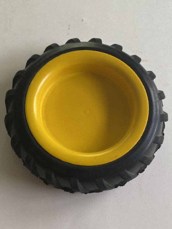 "John Deere Tire Display Coaster 6"" x 1 1/4"" No Pad Green Yellow A3578"