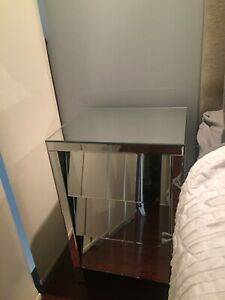 Set of Urban Barn Mirrored Side Table