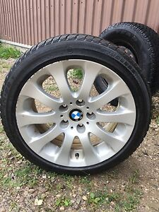 BMW alloy rims and Bridgestone winter tires 225 45 17
