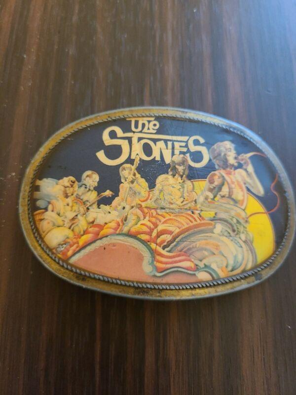 Vtg 1976 Pacifica The Stones Rolling Stones Belt Buckle